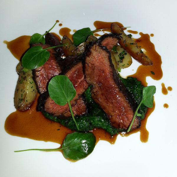 Sweet Basil hanger steak
