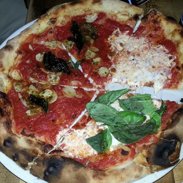 Pizza Marinara & Pizza Margarita from Pizza Bianco