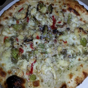 Cauliflower pizza from Cotogna