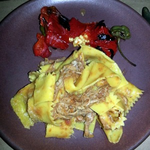 Pappardelle with rabbit raghu