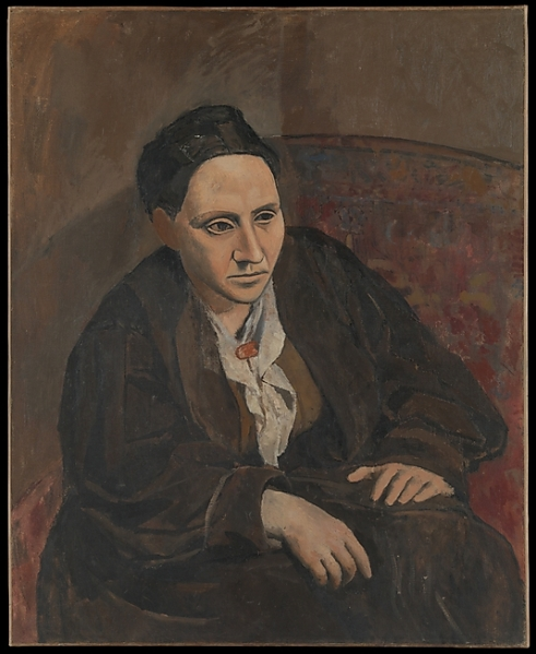 Portrait of Gertrude Stein by Picasso. Photo courtesy of the Metropolitan Museum of Art