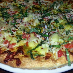 Curry vegetable pizza from Second