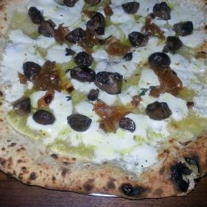 Mushroom pizza at Bufalina