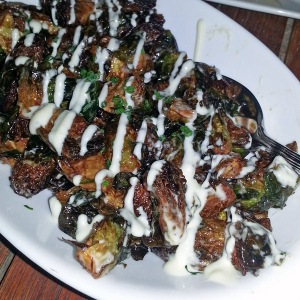11 Plates - fried brussel sprouts with lemon aioli