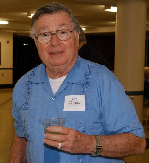 Fr. Chris Billac, S.J. at his high school reunion in New Orleans. Photo courtesy of Jesuit New Orleans archives