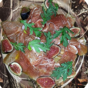 Prosciutto & fig on DII Real Tree Melamine