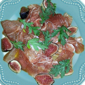Prosciutto & fig on Paul Deen's Whitaker plate