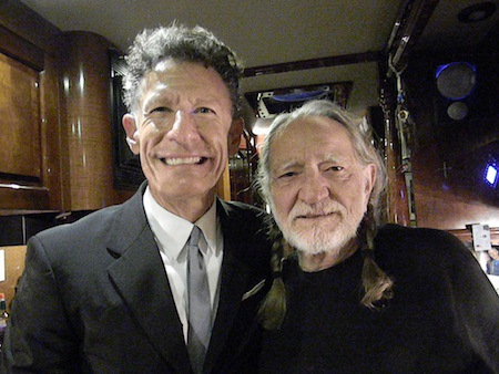 Lyle Lovett & Willie Nelson. Photo by Lana Nelson and courtesy of stillismoving.com