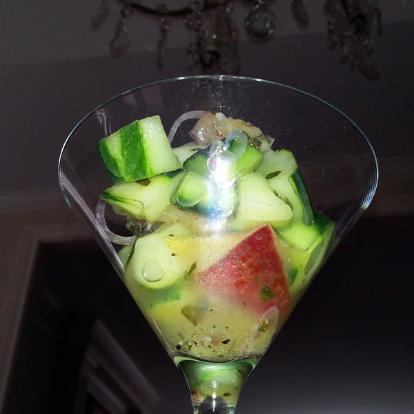 Cucumber and nectarine salad