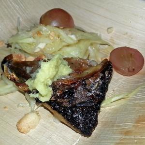 Dinner Lab with Ek Timrek - Green Mango Salad : grilled mackerel | fresh thai chili & lime | roasted & crushed peanuts
