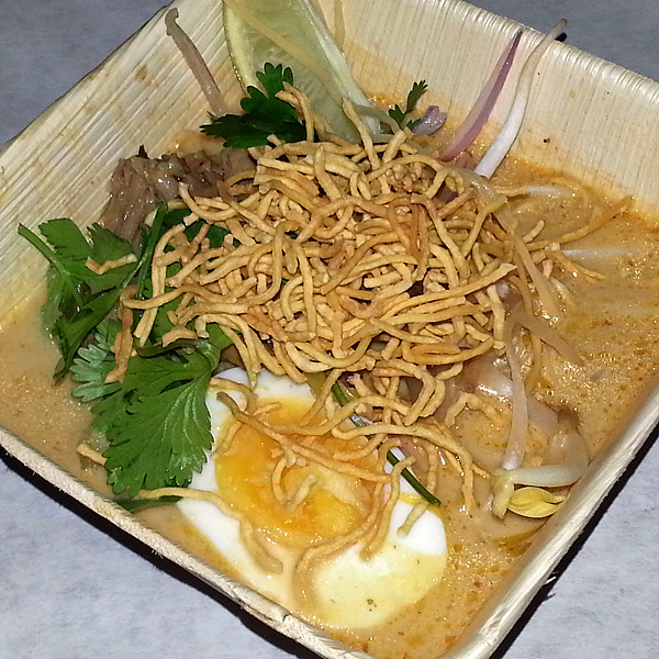 Dinner Lab with Ek Timrek - Kao Soi & Brisket : turmeric curry | egg noodle | pickled mustard green | onsen tamago