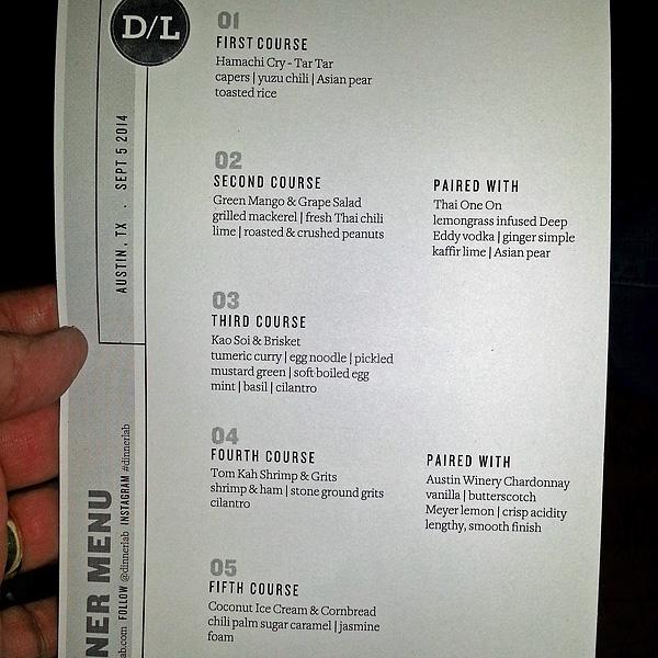 Dinner Lab for Sep 6, 2014 featuring Ek Timrek