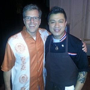 Anthony Dina with Ek Timrek at the Dinner Lab in Sept 2014