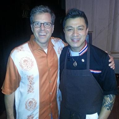 Anthony Dina with Ek Timrek at the Dinner Lab in Sept 2014
