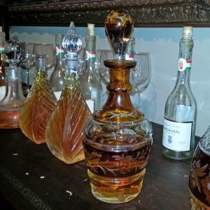 Row of Tokaj decanted