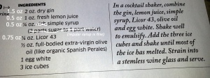 Oliveto recipe from Hemispheresmagazine.com (with my comments)