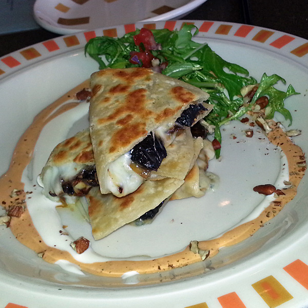 Border Grill - brie and fig quesadilla