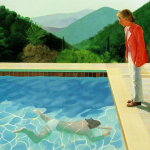 Portrait of an Artist (Pool with two figures), 1972 by David Hockney (detail)
