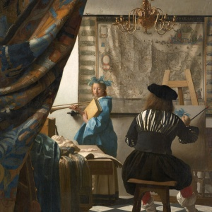 The Art of Painting by Jan Vermeer 1665-1668 (detail)