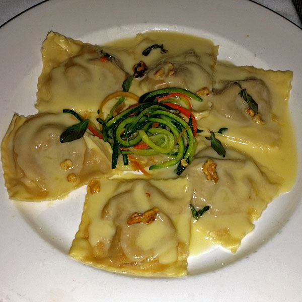 Ravioli with Butternut and Acorn Squash, Trattoria 10